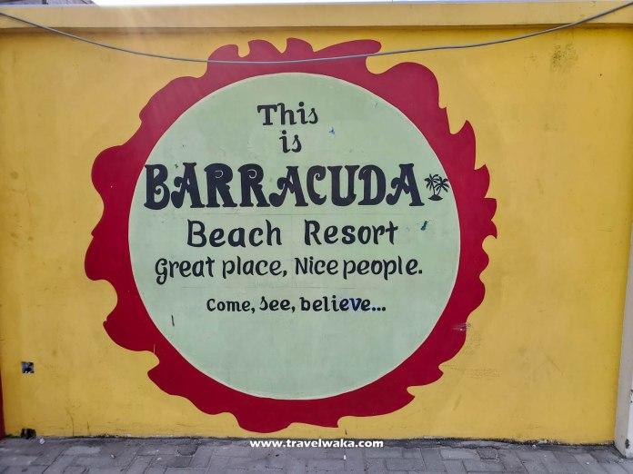 barracuda beach resort sign