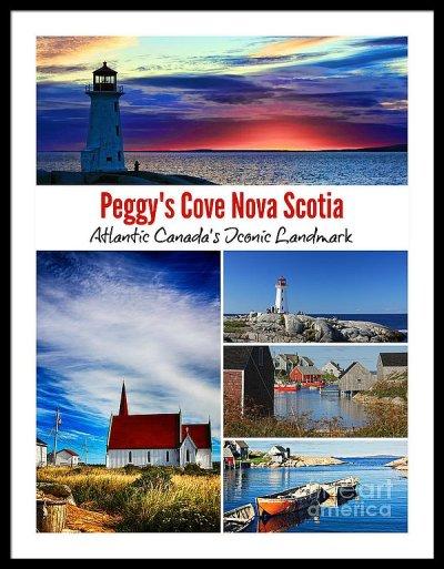 Peggy's Cove Nova Scotia poster framed