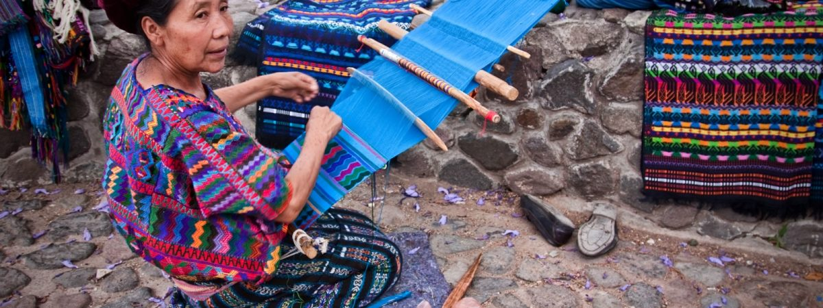Indigenous craft vendors in Panajachel Guatemala