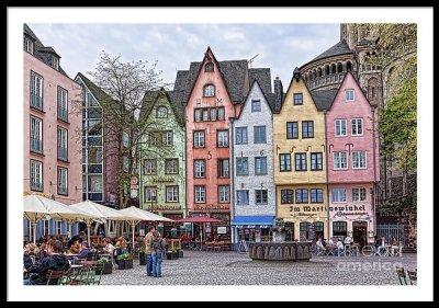 Cologne plaza - framed art print