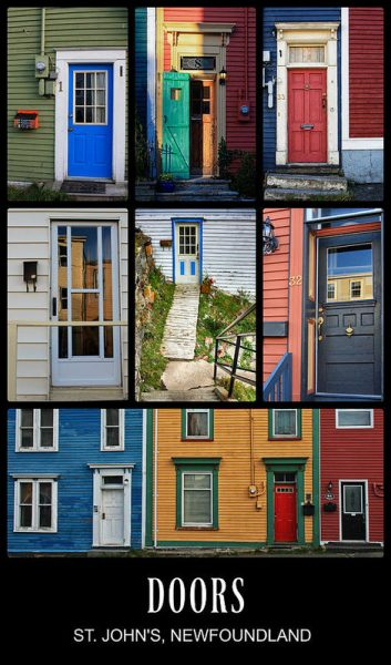 Doors In St. Johns Newfoundland - A colorful view
