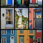 Doors In St. John's Newfoundland – A colorful collage poster