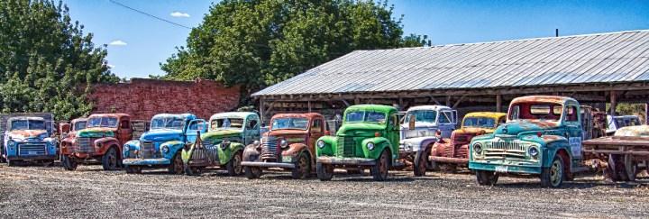 Old trucks in Sprague, Washington - by Tatiana Travelways