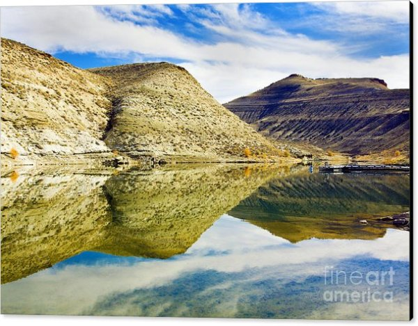Flaming Gorge water reflections canvas art print by Tatiana Travelways