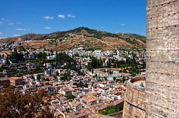 Granada viewed from Alhambra tower