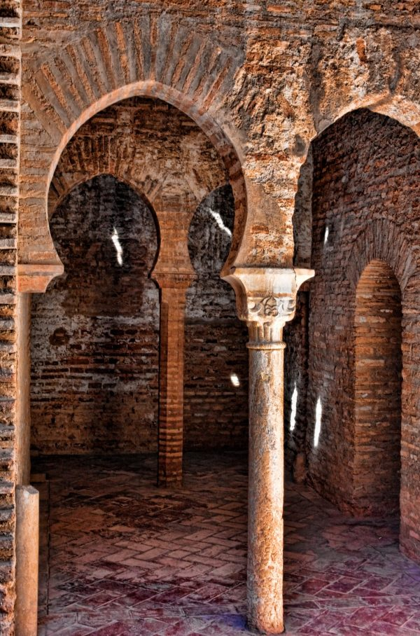 Arabic columns and arches in Alhambra