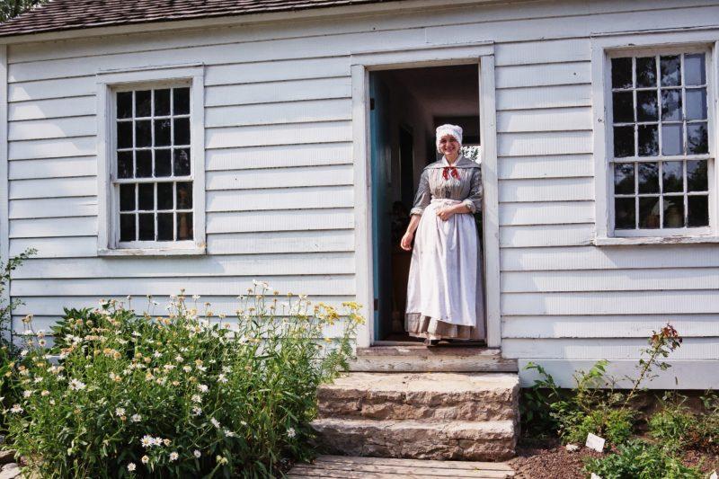 Framing in Photography - Open door in Fort Maiden, Amhrestburg, Ontario