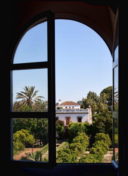 Hotel window in Seville, Spain