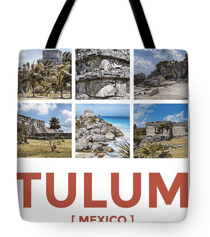 Tulum, Mexico Collage Tote Bag