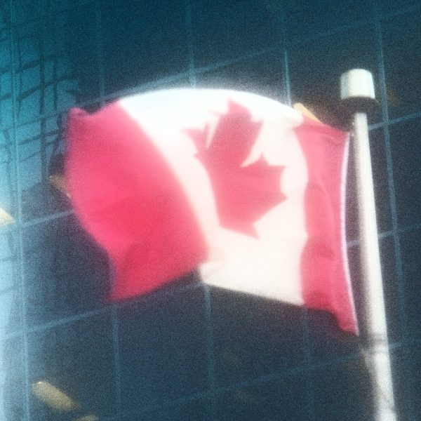 Canadian flag motion blur photography