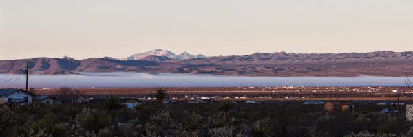 Mohave Desert Arizona morning fog in the valley
