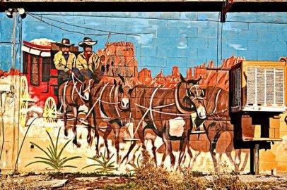 Wild West Mural, Dolan Springs, Arizona