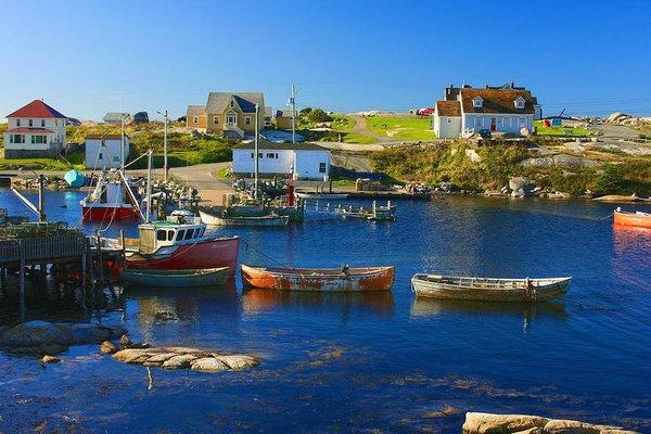 Fishing boats in Peggy's Cove, Nova Scotia