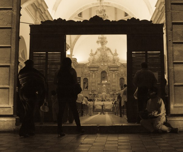 Church mesa in Campeche, Mexico