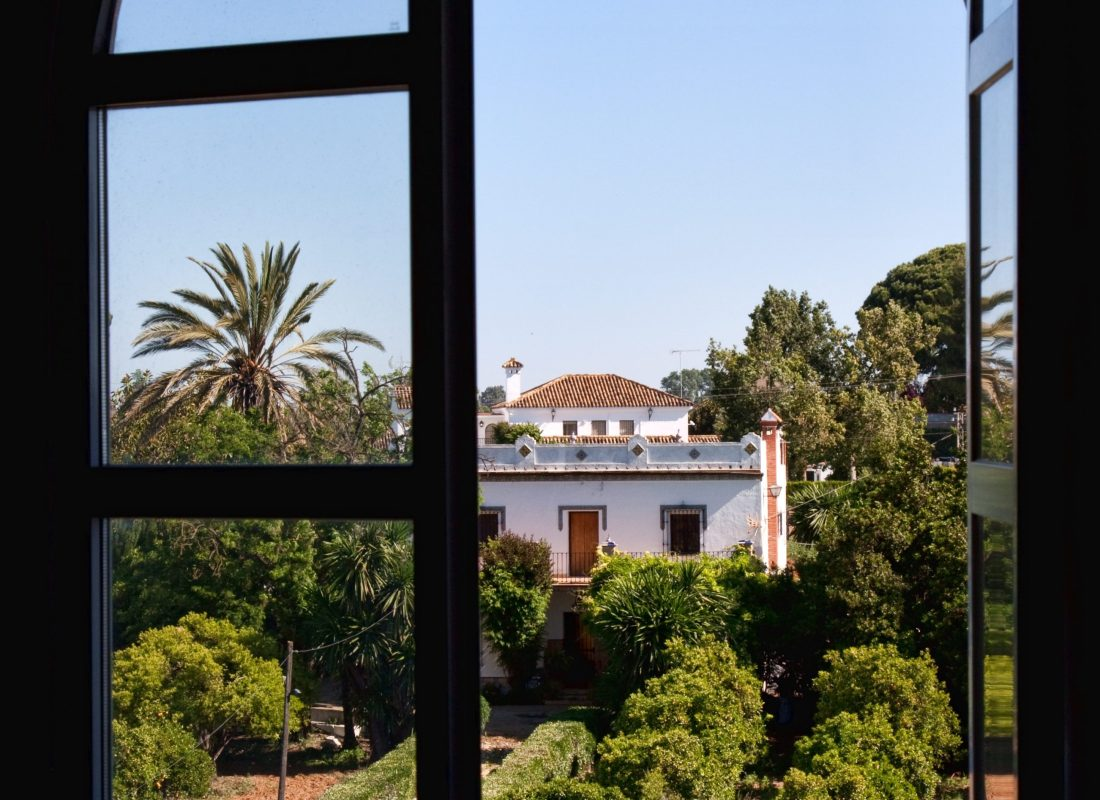 A vindow with a view in Andalusia, Spain