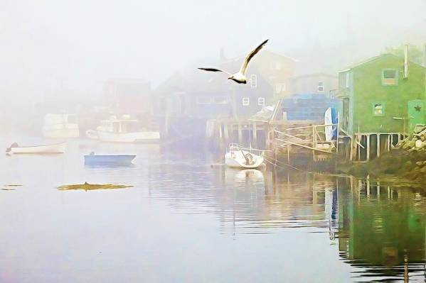 Fog over West Dover Nova Scotia