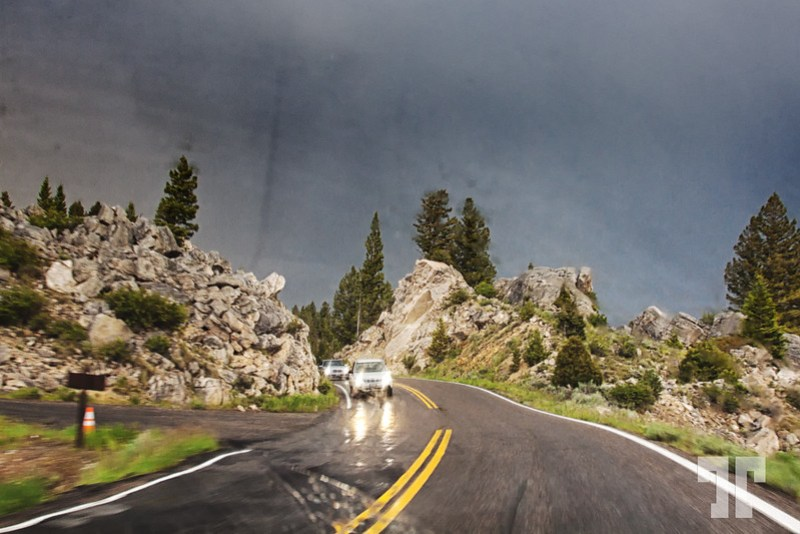 Summer storm in Yellowstone National Park