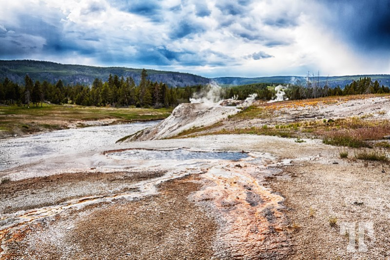 Geysers at the Lower Basin in Yellowstone