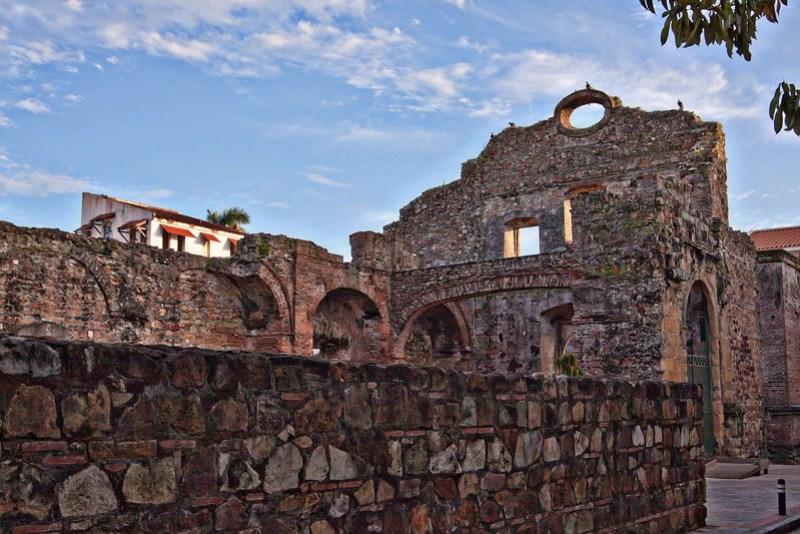 Convent of Santo Domingo ruins in Casco Viejo, Panama