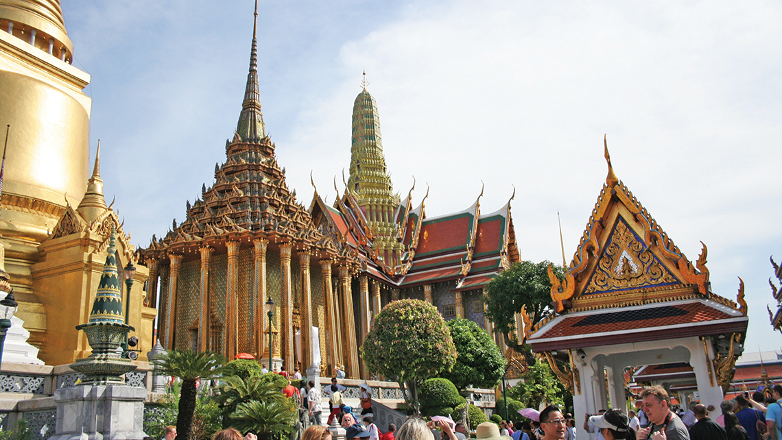 The Grand Palace in the Thai capital of Bangkok is said to welcome some 8 million travelers each year. Photo Credit: Michelle Baran