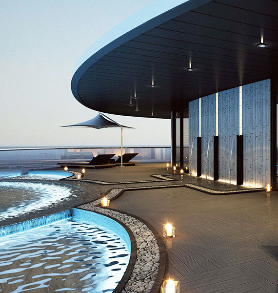 The Scenic Eclipse will have indoor and outdoor Jacuzzis and plunge pools.