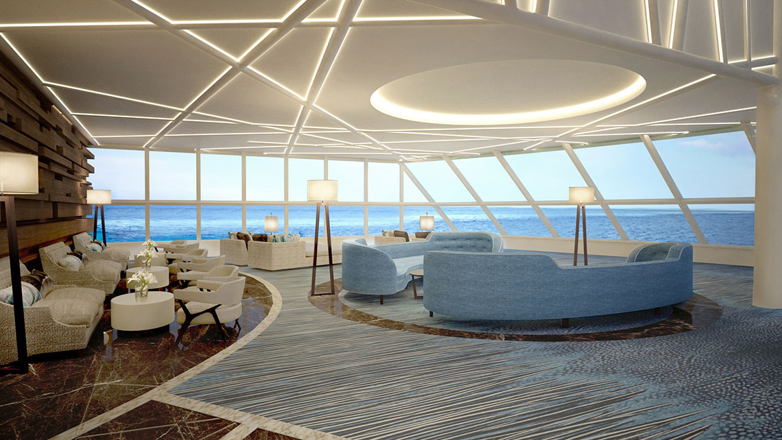 "The Haven's observation deck will have views ""as good as the captain's."""