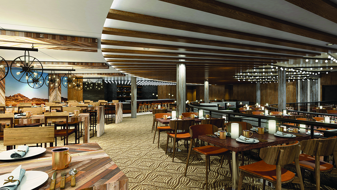 Q will be Norwegian Cruise Line's first try at a Texas smokehouse-style venue.