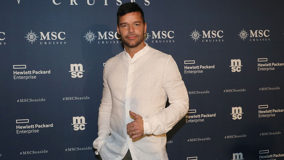 Ricky Martin at the MSC Seaside christening. Photo Credit: Aaron Davidson/Getty Images