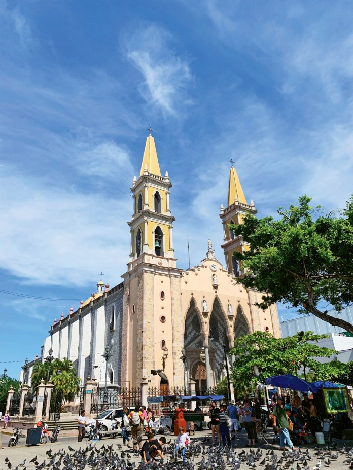 The Cathedral Basilica of the Immaculate Conception in Mazatlan's Centro Historico.