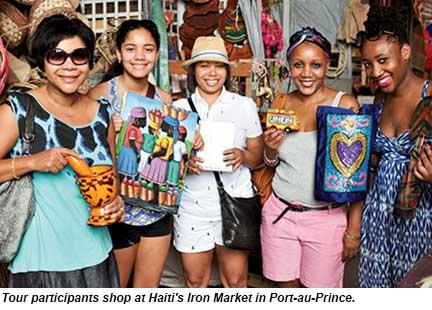 Haiti tour - shoppers
