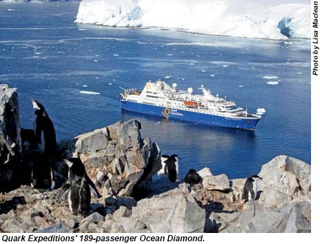 Quark Expeditions 189-passenger Ocean Diamond.