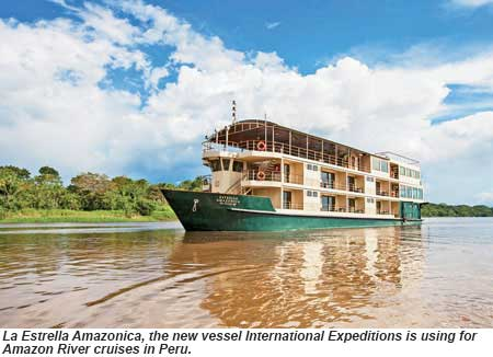 La Estrella Amazonica, the new vessel International Expeditions is using for Amazon River cruises in Peru.