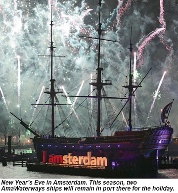 New Years Eve celebration in Amsterdam.