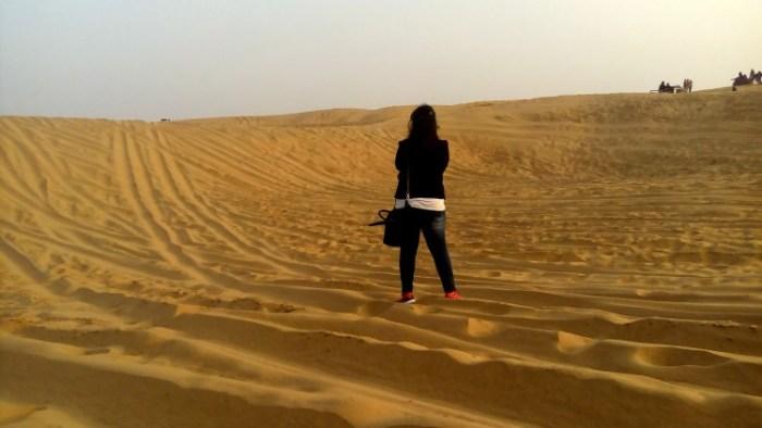 Free walk at Sam sand dune