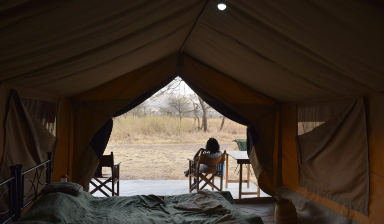 Camping in the heart of the Serengeti