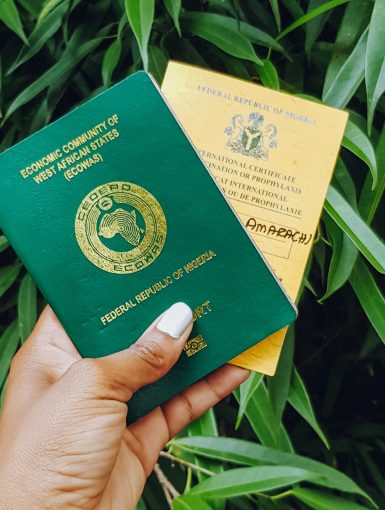 Nigerian Passport Yellow Card