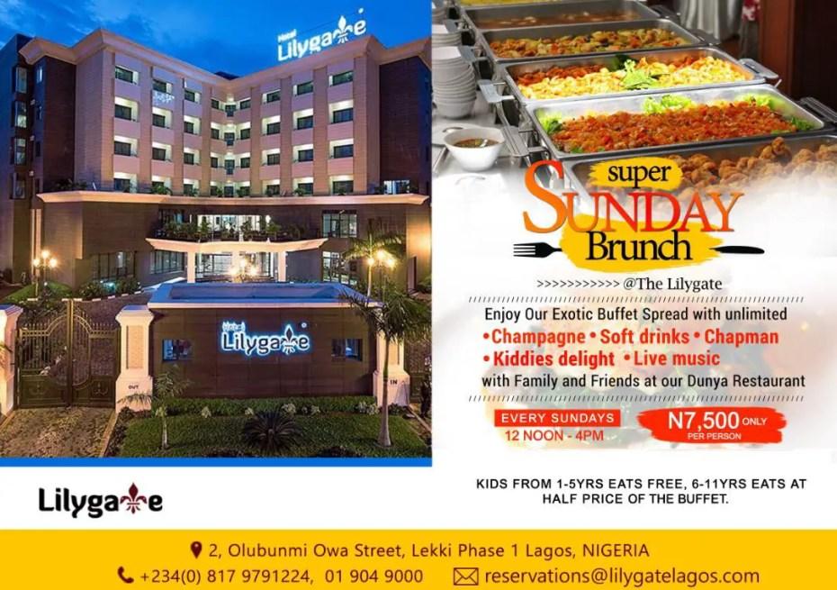 Sunday Brunch Lilygate Hotel
