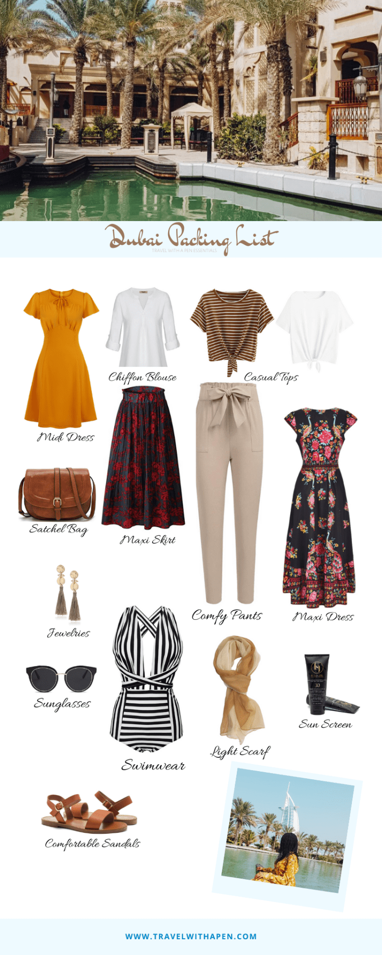 What to Wear in Dubai. Packing for a 5 day trip