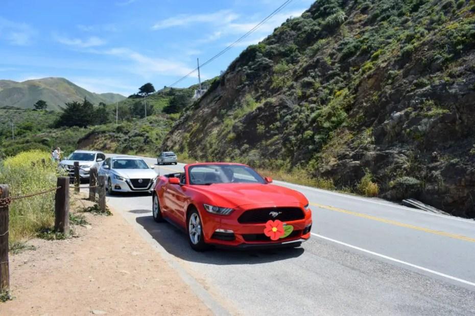 California Road Trip Ford Mustang