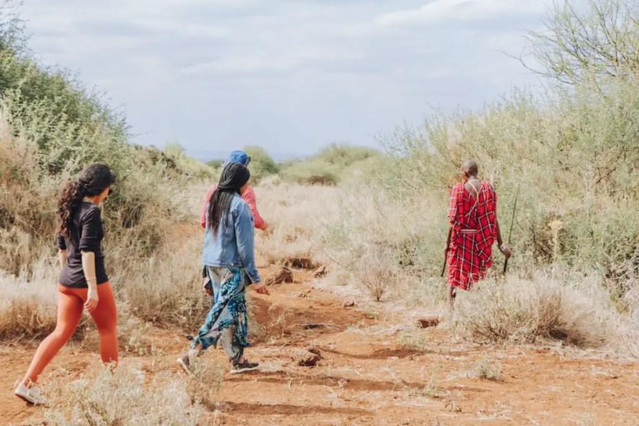 Amboseli Bush Camp walk with a Masai