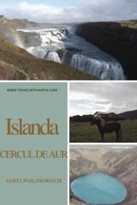 Islanda Cercul de aur Harta