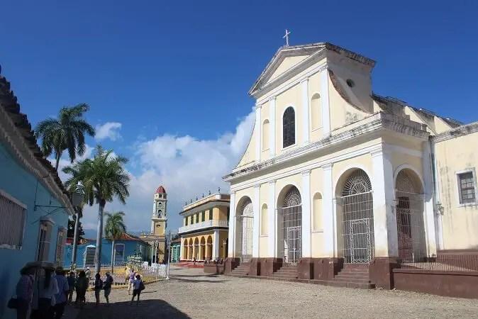 Holy Trinity Church in Plaza Mayor, Cuba