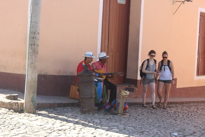 Musicians on the streets of Trinidad, Cuba
