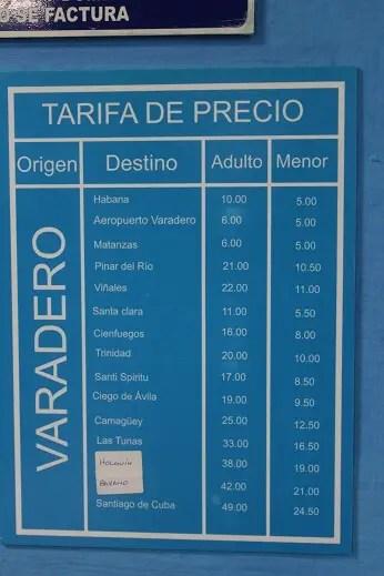 Viazul tickets prices