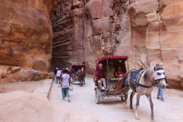 The Siq canyon, Petra, Jordan