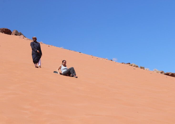 When your sandboard moves let you down, Wadi Rum, Jordan