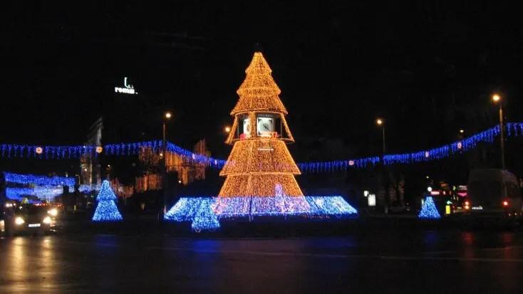 Luminițe de Crăciun, București