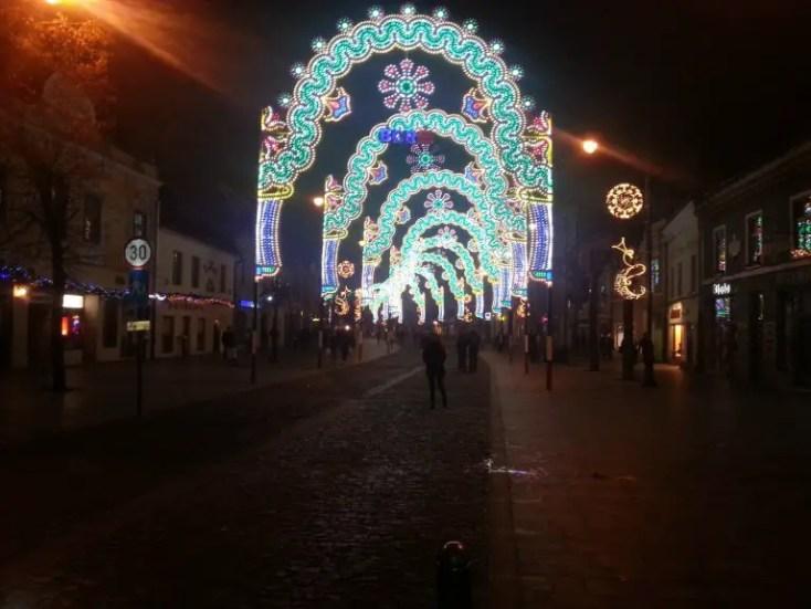 The Christmas Lights Tunnel, Sibiu, 1st of December