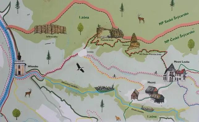 trails map bohemian switzerland