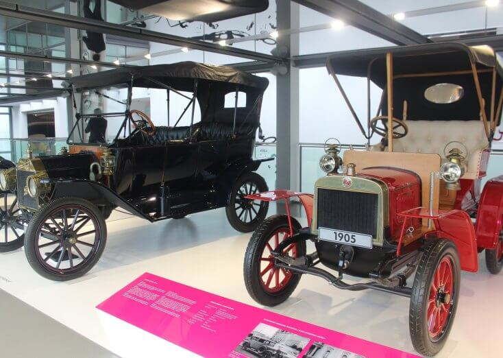 Vintage cars at Autostadt, Germany